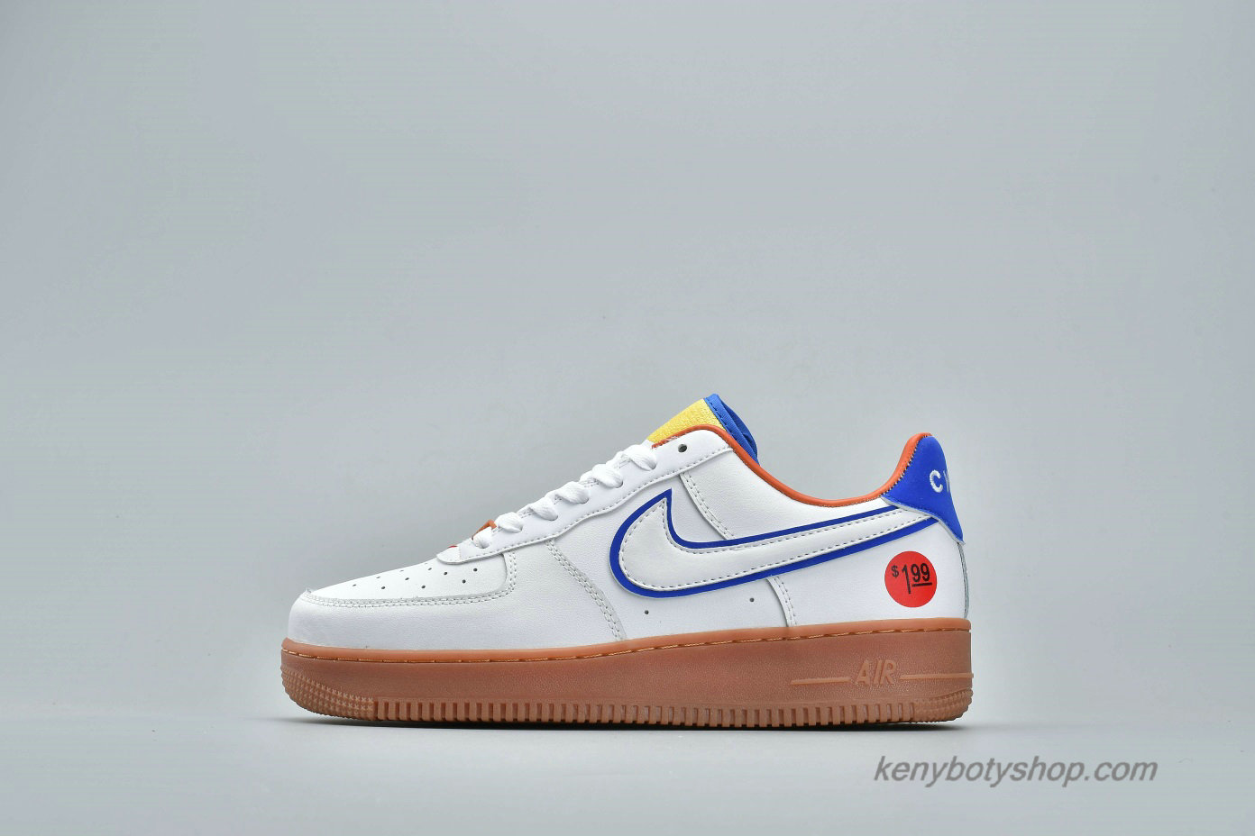 Boty Nike Air Force 1 Low UPSTEP WONDER BREAD Unisex 653774-660 (Bílý / Modrý)